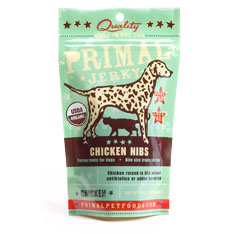Primal - Jerky Chicken NIBS Dog Treats 4oz