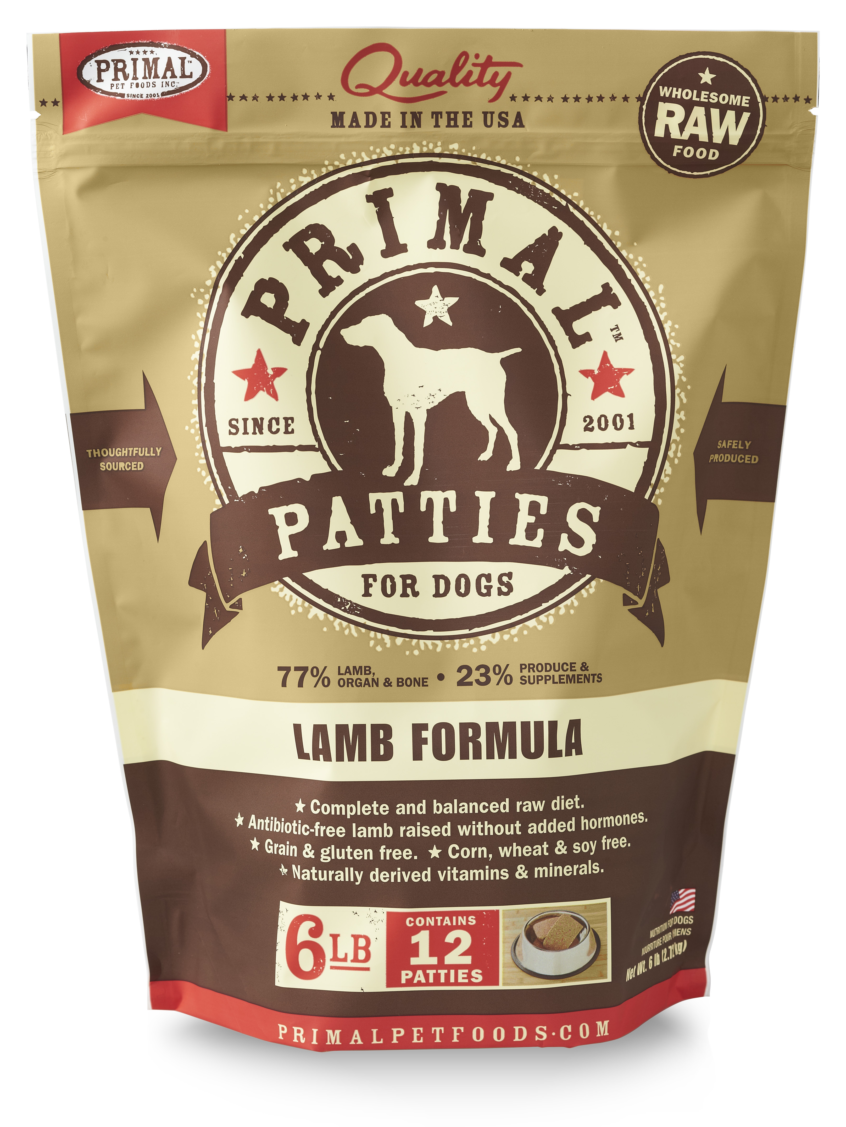 Primal Canine Raw Frozen Lamb