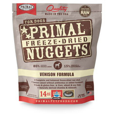 Primal Canine Raw Freeze Dried Venison Nuggets