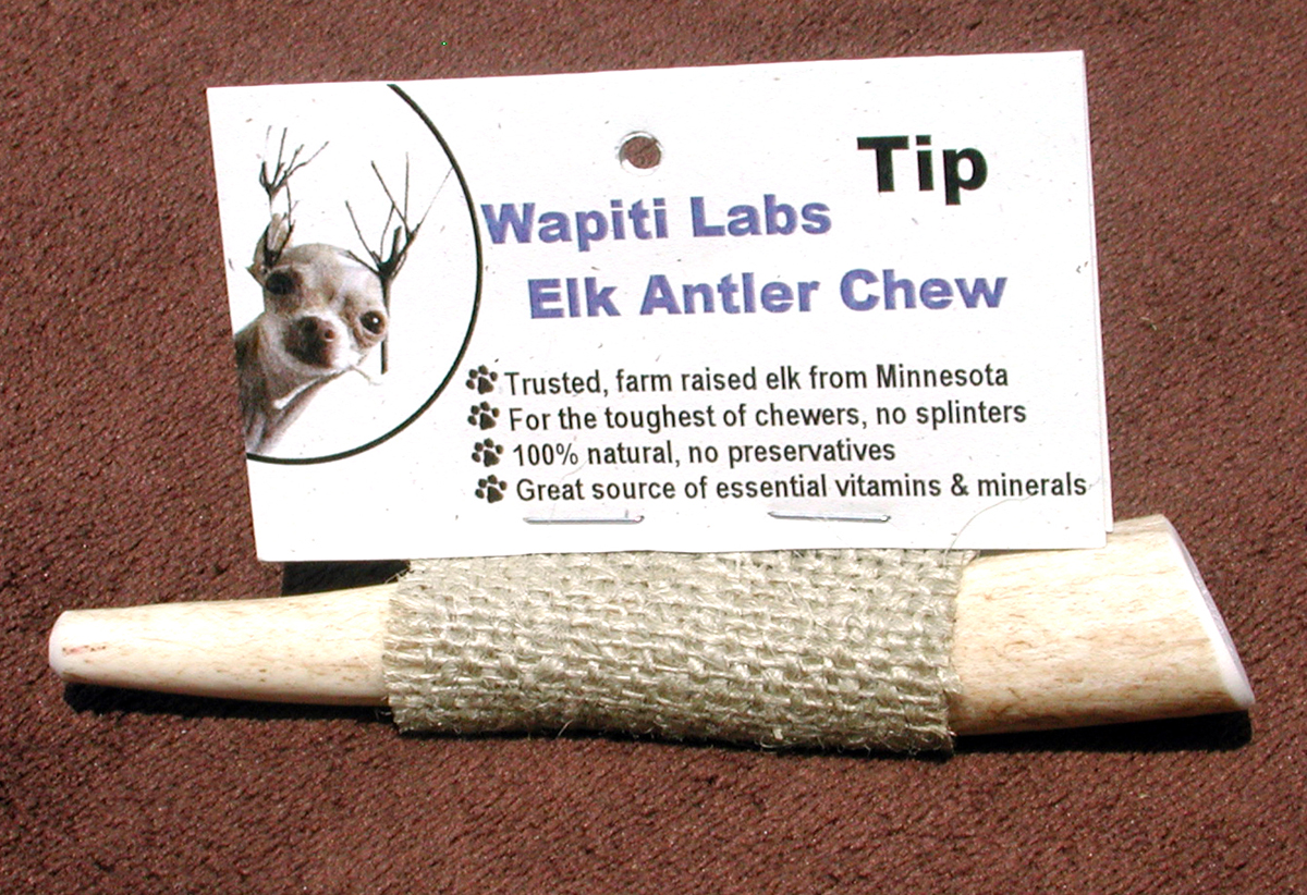 "Wapiti Labs Inc 4"" Elk Antler Chews - Tips"
