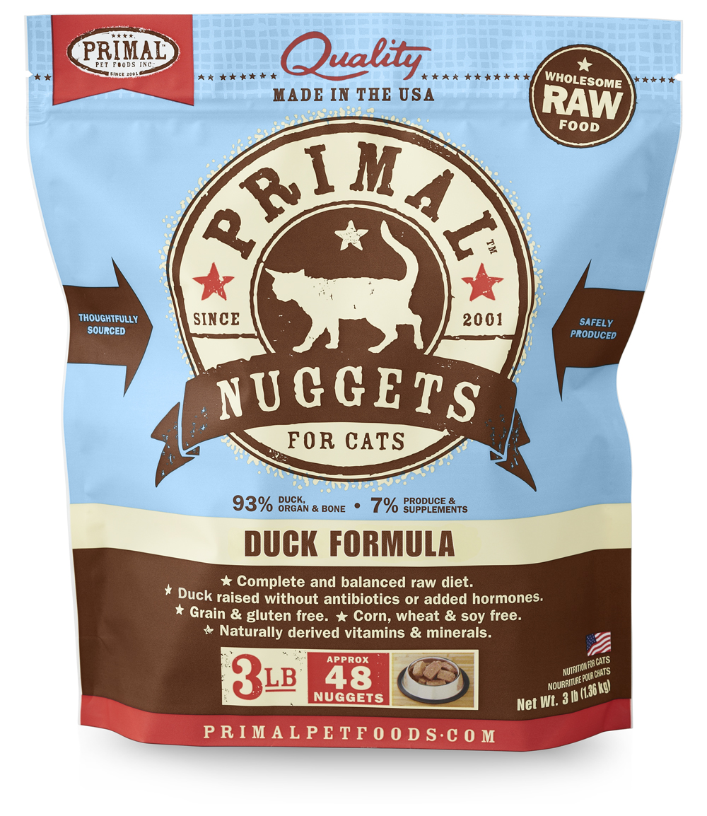 PRIMAL - Raw Frozen Feline Duck Formula - Click Image to Close