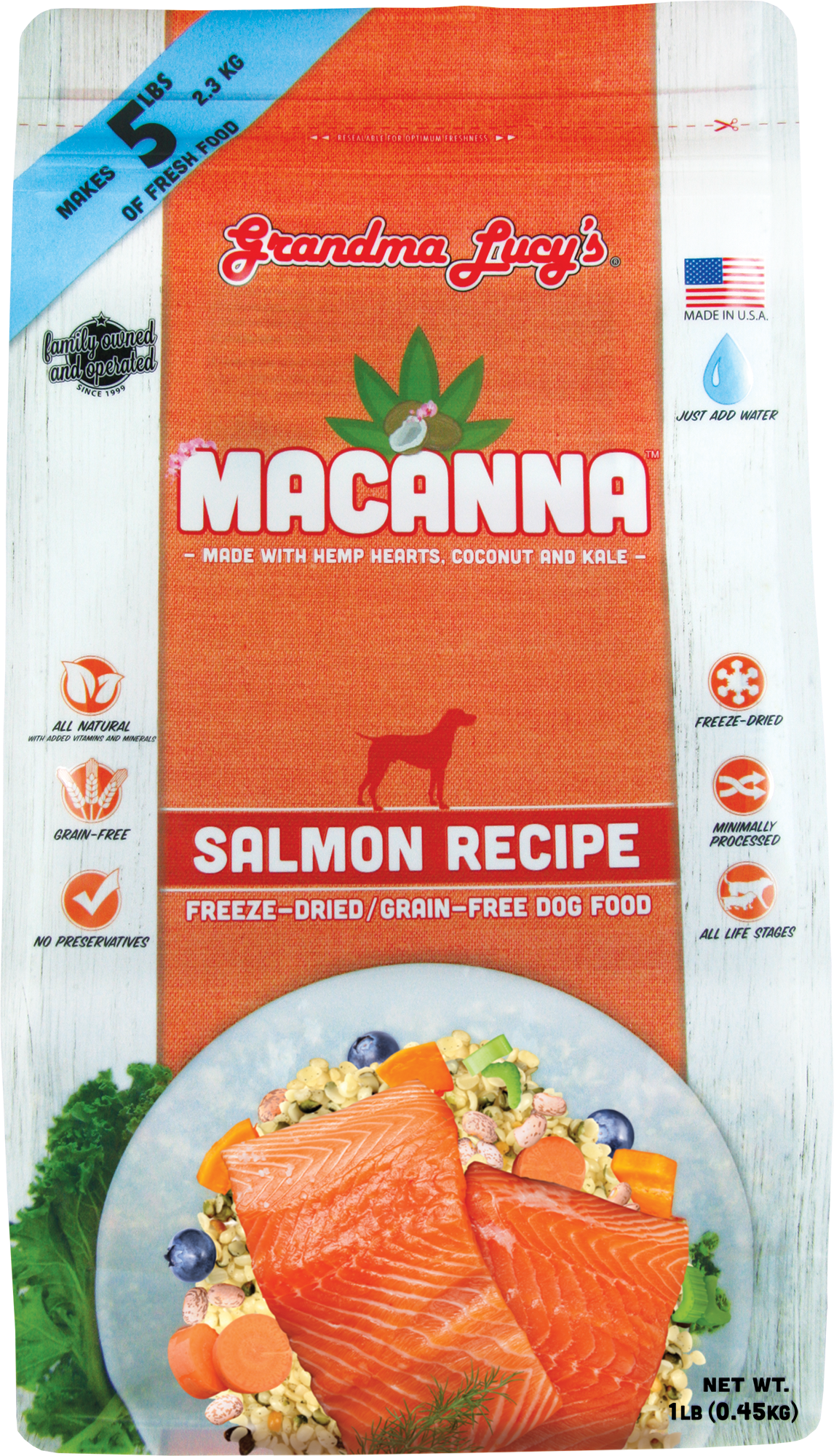 Grandma Lucy's Macanna Freeze Dried Salmon 1lb