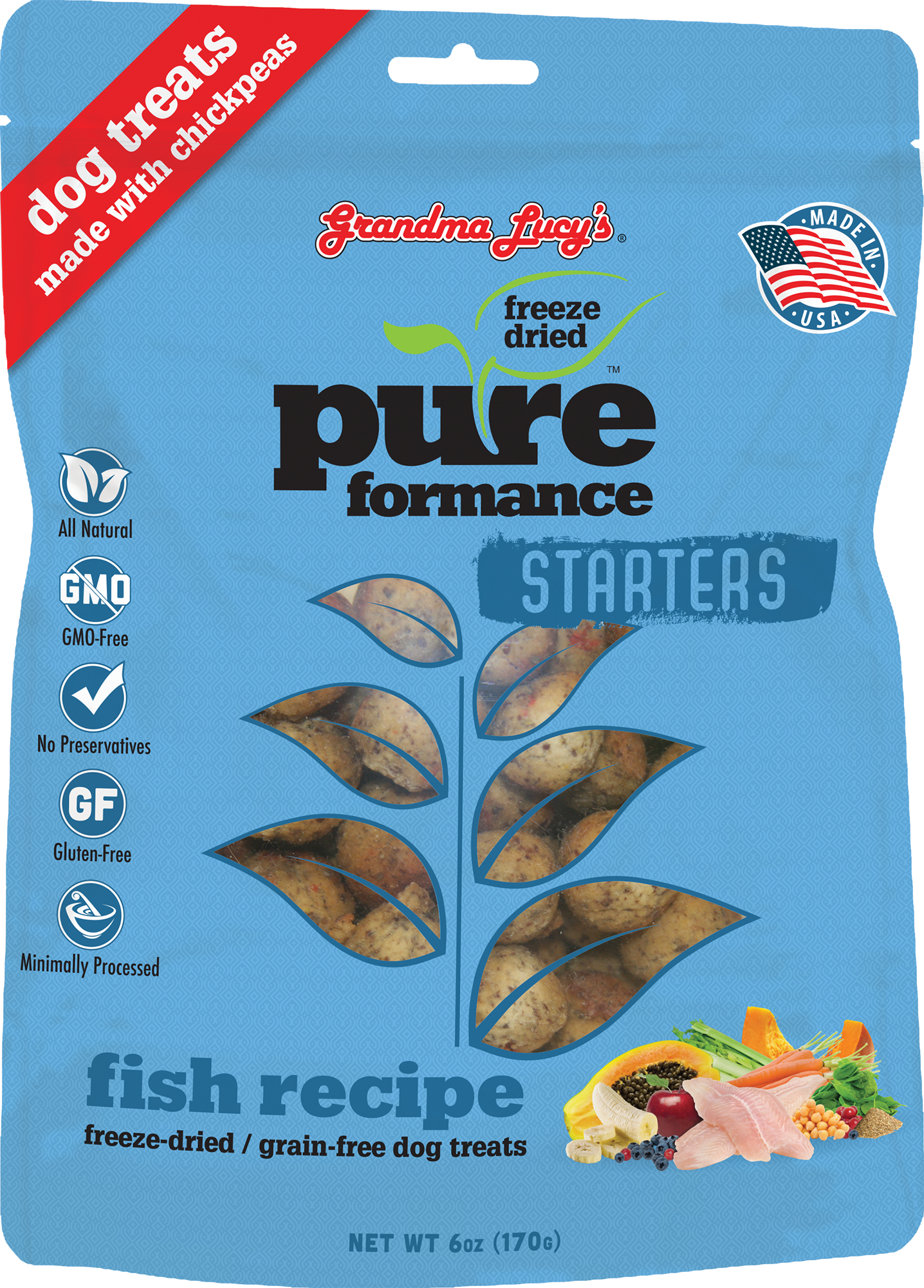 Grandma Lucy's Starters Pureformace Fish 6oz - Treats