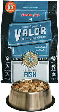 Grandma Lucy's Valor Fish Dog Food 3lb / 10lb