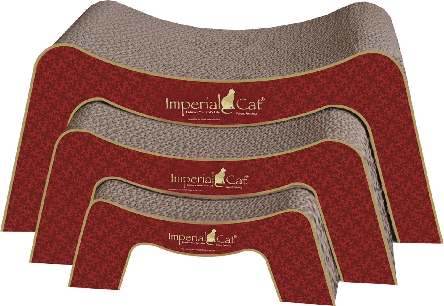 Imperila Cat -Shape Scratchers 3in1 Nesting