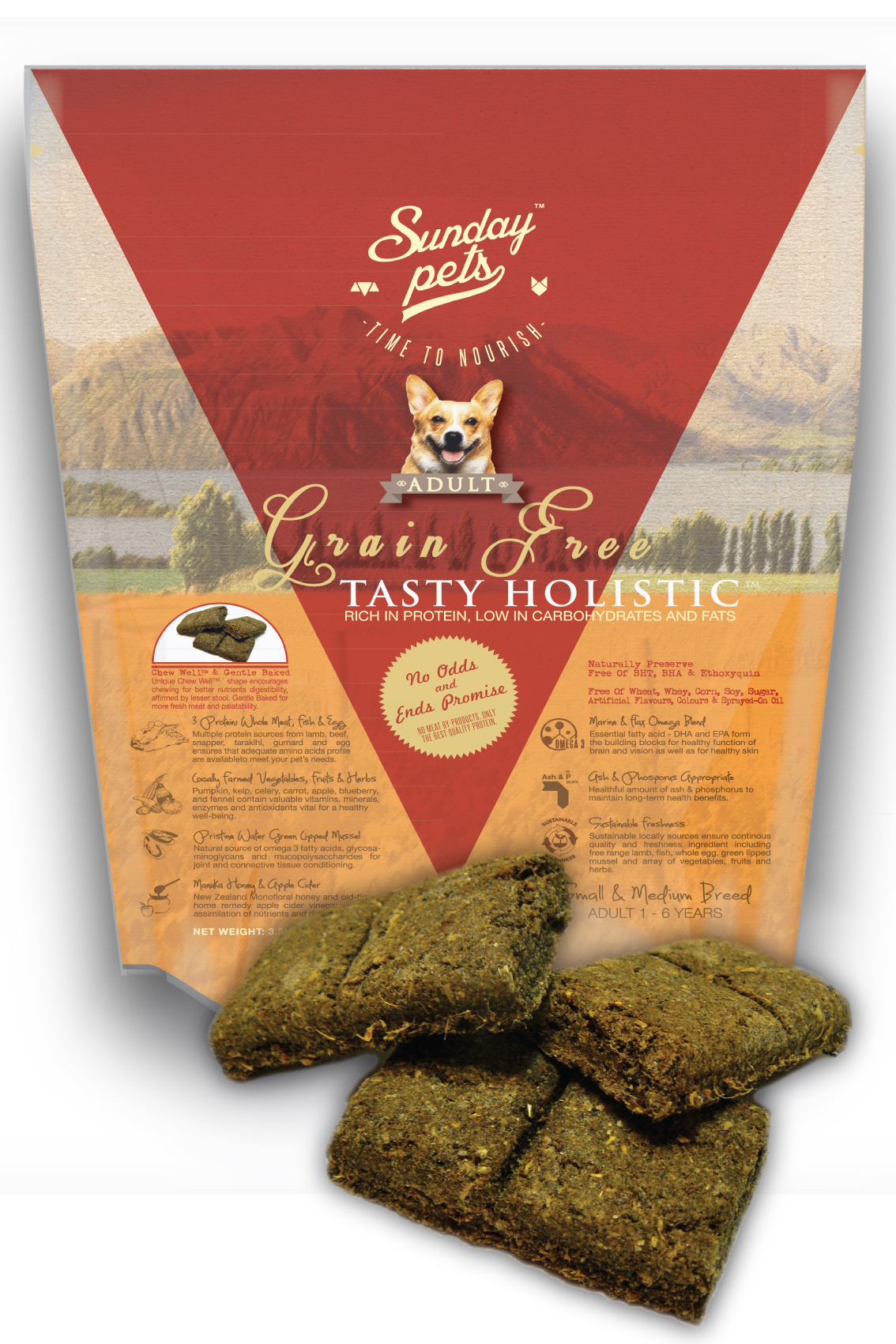Sunday Pets Tasty Holistic Grain Free Adult